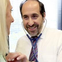 Dr. Benoff and patient