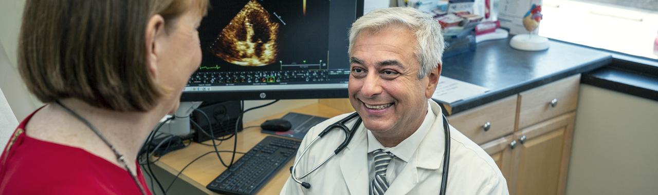 Dr. L. DiVagno and patient