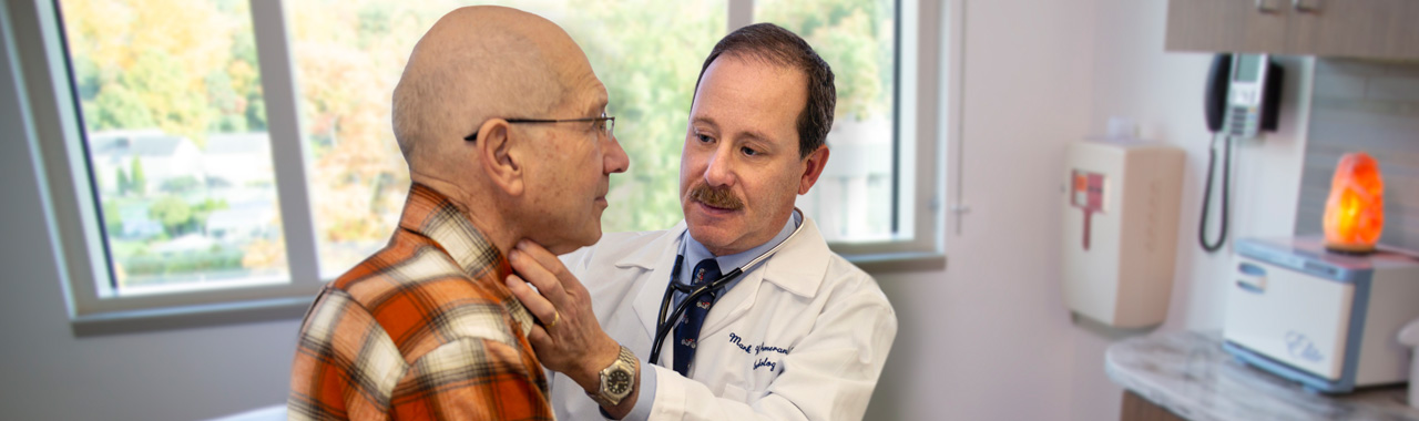 Dr. Pomerantz and patient