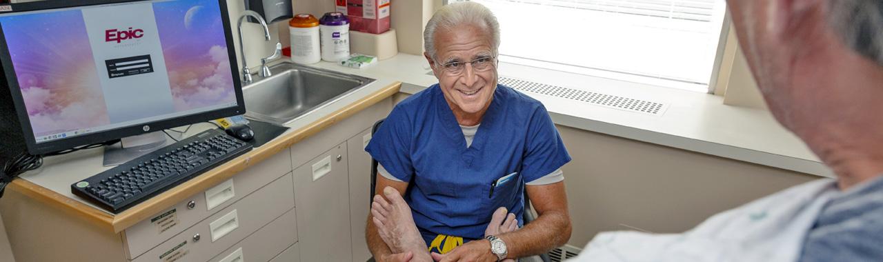 Dr. Elias and patient