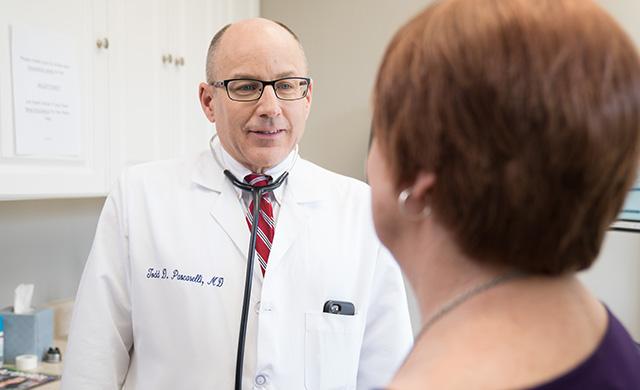Dr. Pascarelli and patient