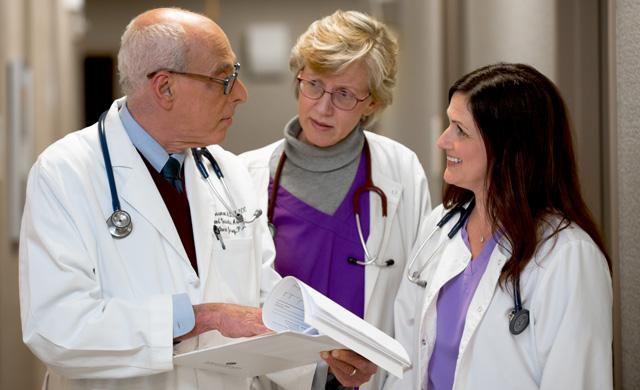 Dr. Grossman and staff discuss coronary artery disease treatment