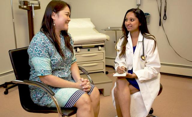 Dr. Disha Patel and Patient