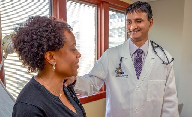 Dr. Kondapaneni and patient