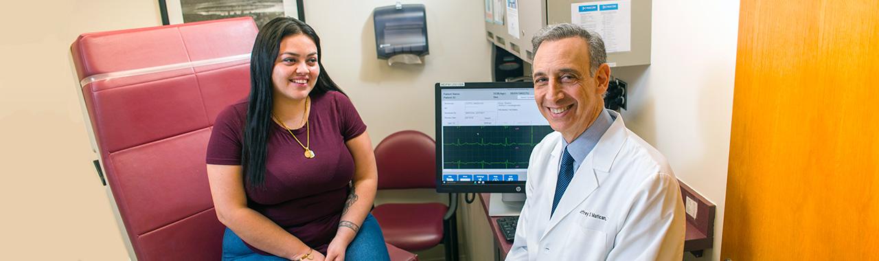 Dr. Jeffrey Matican and patient
