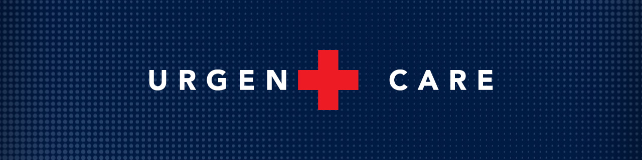 Englewood Health Urgent Care graphic with red cross that acts as the t in urgent